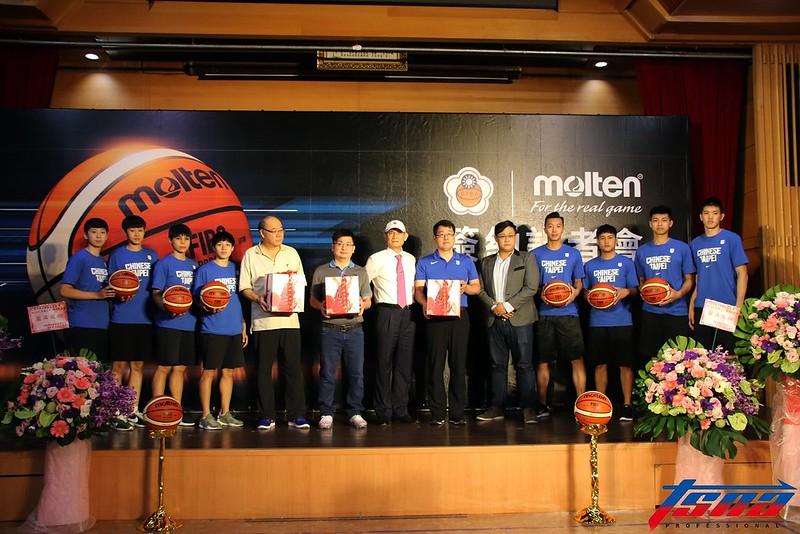 中華民國籃球協會和Molten正式簽約。(林志儒/攝)