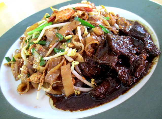 Colourful Cafe char kway teow & masak hitam beef 1