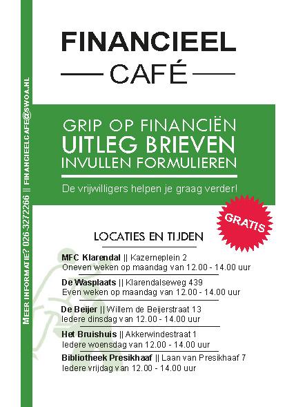 flyer financieel cafe