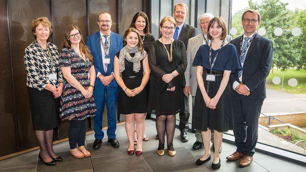 Professor Mary Hayden (left) joins colleagues from the Department of Education and Professor Peter Lambert with members of the IB team at the Conference held on campus.