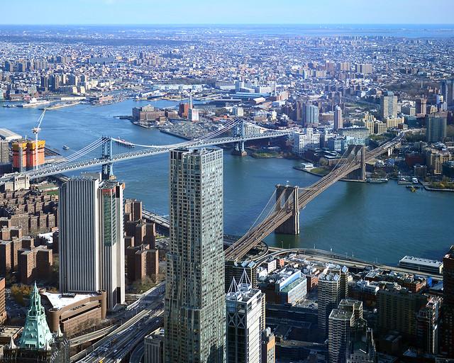 Vistas del Hudson desde el edificio One World de Nueva York