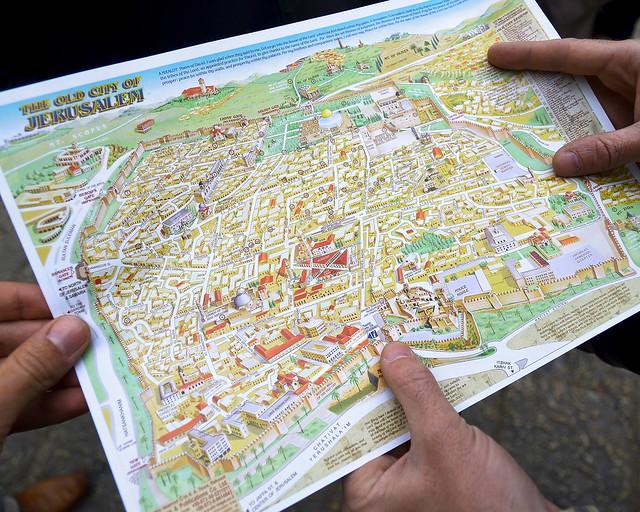 Mapa de la ciudad de Jerusalén