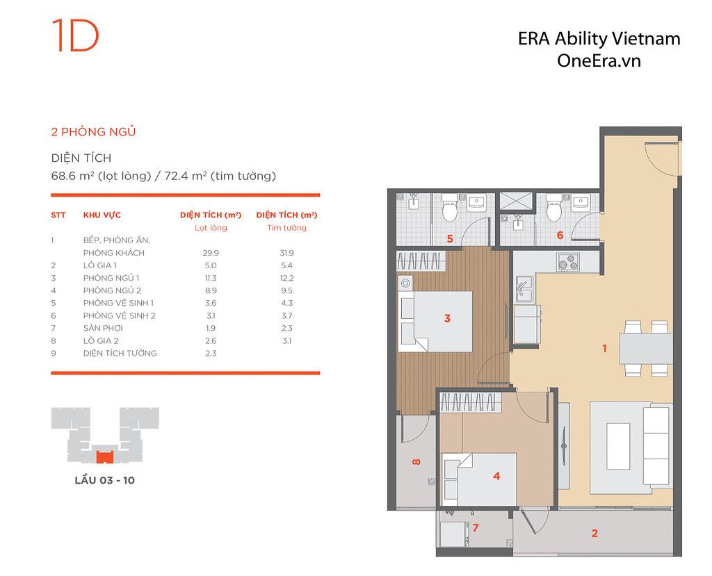 Mặt bằng tầng và thiết kế căn hộ Hausneo 43