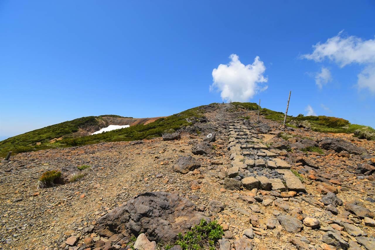 蔵王山・地蔵山への登山道