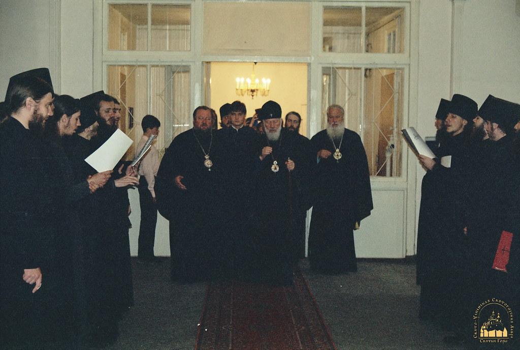 Посещение Предстоятелем УПЦ храмов и скитов обители. 8.09.2000
