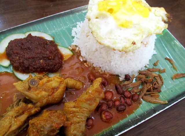 Old Street Cafe, nasi lemak, chicken curry