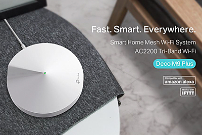 The new Smart Home Mesh Wi-Fi System AC2200 Deco M9 Plus router.