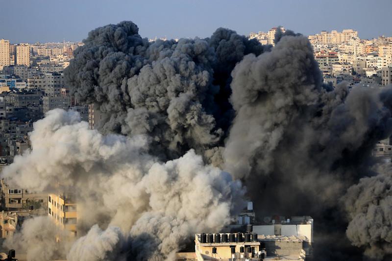 以色列上週四(8/9)再度對加薩發動空襲。(圖片來源:Mahmoud Khattab/ APA images)