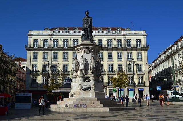 Praça Luís de Camões, Lisbon, Portugal