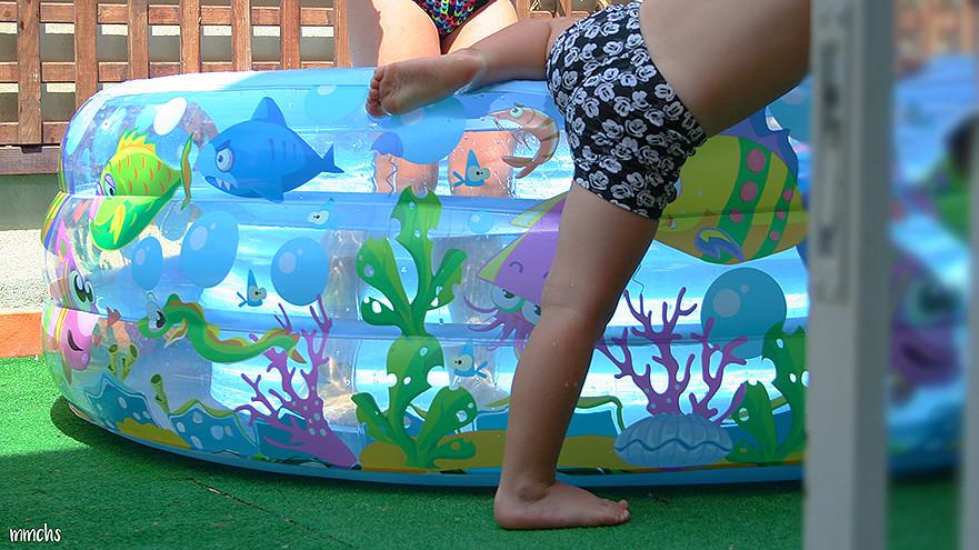 piscina para niños en la terraza de un ático
