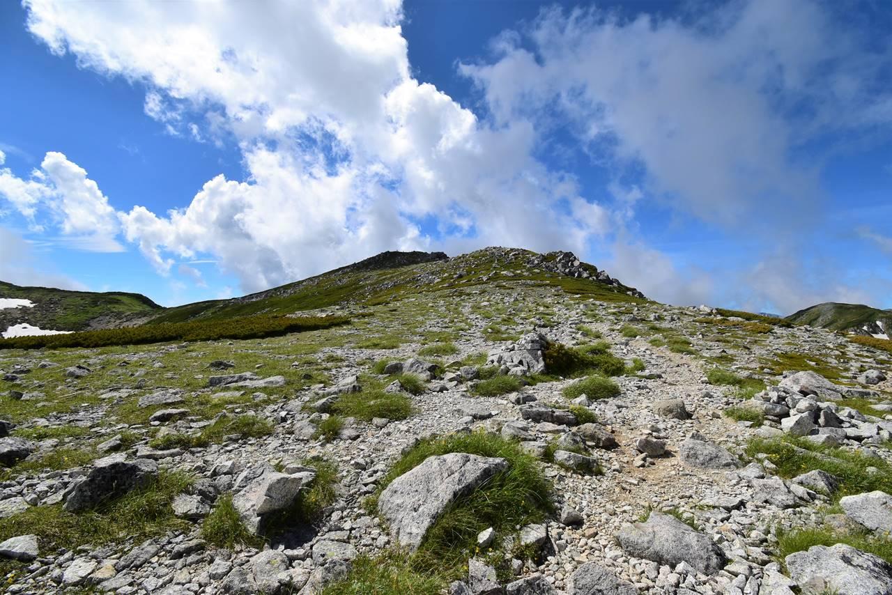 夏の双六岳登山