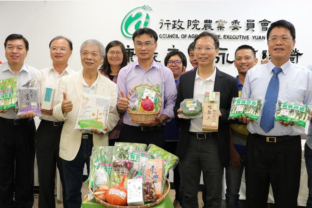 農委會期望十年內臺灣有機農業耕作面積達5%。圖片來源: 行政院農業委員會