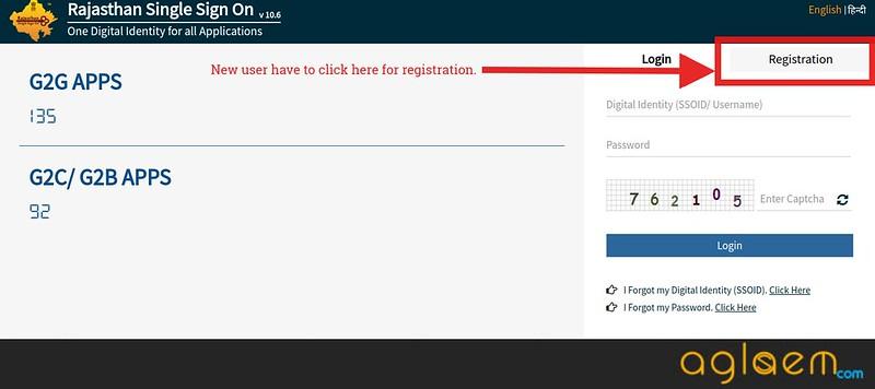 Registration through SSO portal