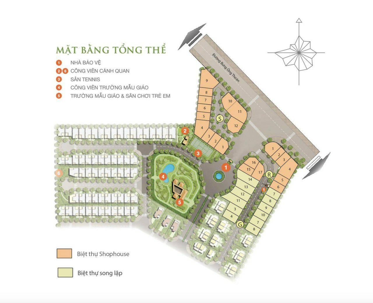 Mặt bằng tổng thể dự án biệt thự Villa Park giai đoạn 2