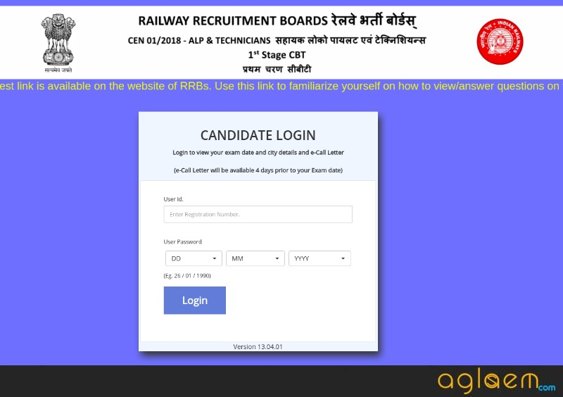 RRB ALP Admit Card 2018 for August 21 Exam Released; Download Here