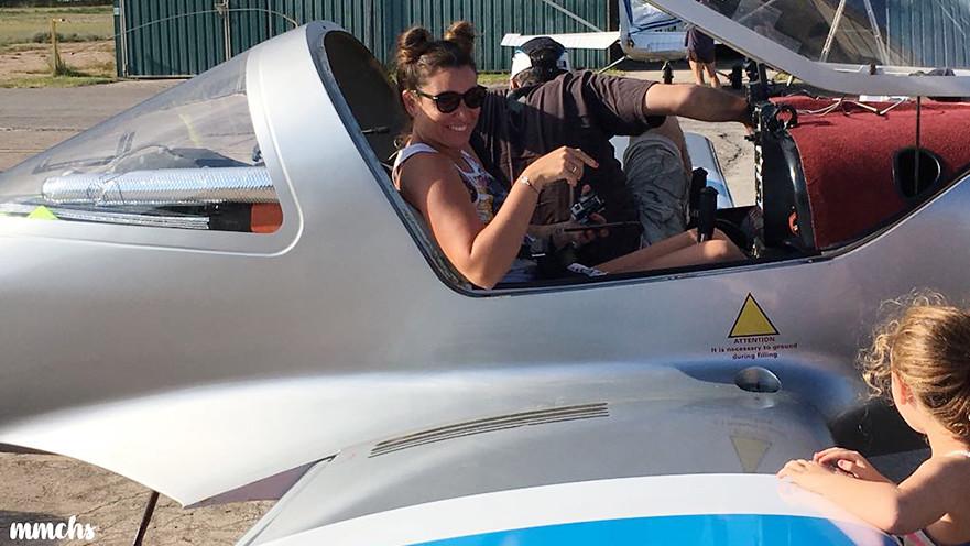 aterrizando en el aeroclub de Castellón