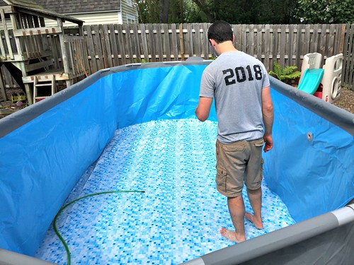 setting up our pool