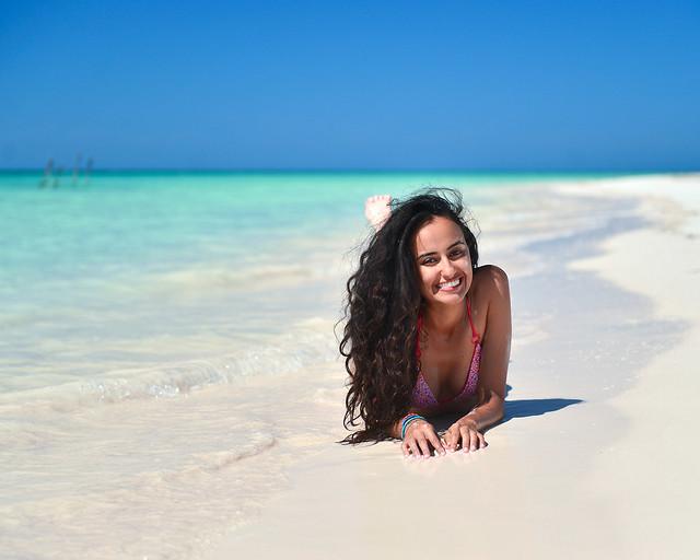 En las orillas de Cayo Levisa, una de las playas más impresionantes de Cuba