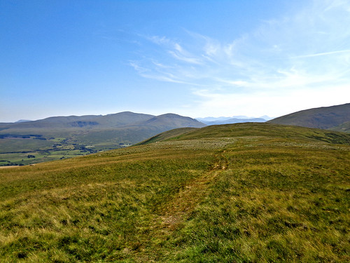 Walking along Souther Fell