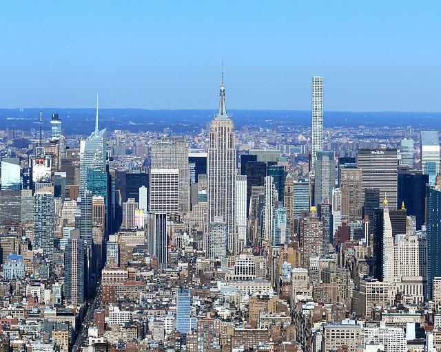 Vistas desde el One World, uno de los miradores más espectaculares de Nueva York