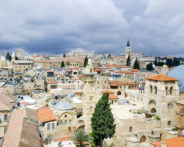 Jerusalén visto desde uno de sus campanarios