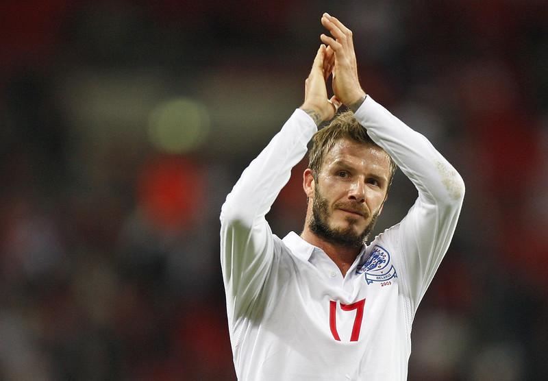 前英國足球金童David Beckham看好自家球隊進決賽。(達志影像資料照)
