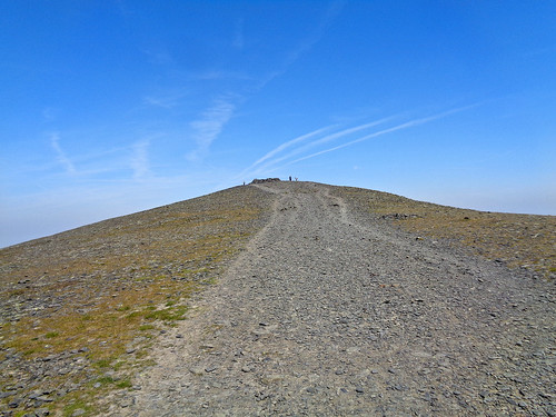 Approaching the Skiddaw summit