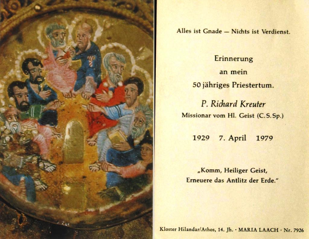 Priesterweihe Kreuter, Richard Pater 07.04.1929
