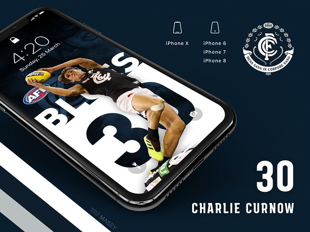 Charlie Curnow (Carlton Blues) iPhone Wallpaper
