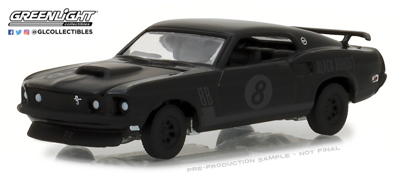Details about Greenlight 1:64 Black Bandit Series 19 1969 Ford Mustang  Trans Am Racing Team