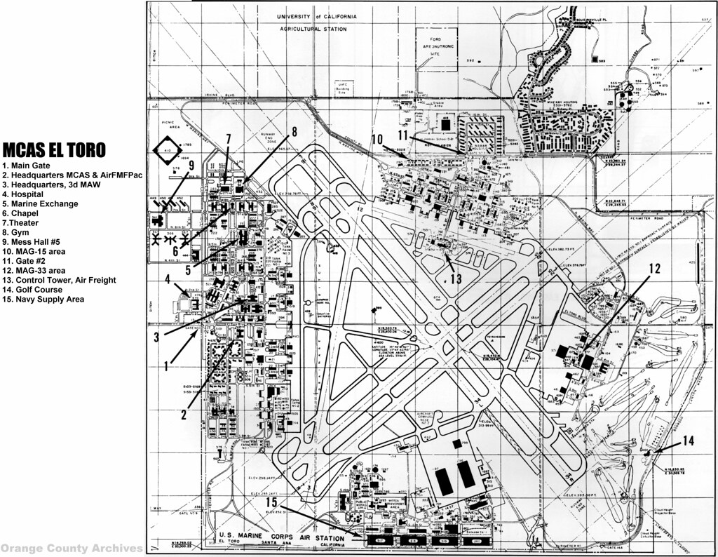 Privacy Policy >> MCAS El Toro map, circa 1965 | There are no known ...