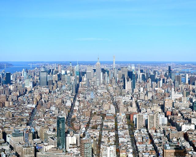 Vistas de todo Nueva York con el Empire State al fondo desde el mirador del One World de Nueva York