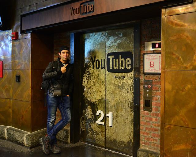 Ascensor a las oficinas de Youtube de Chelsea Market