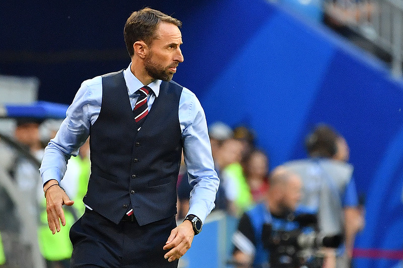 Gareth Southgate率領英格蘭闖進4強。(AFP授權)
