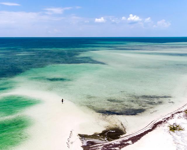 Vista aérea de la isla de las Iguanas en Cayo Largo del Sur, Cuba
