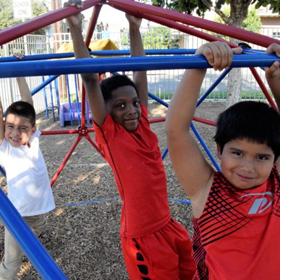 UT Elementary kids on the playground