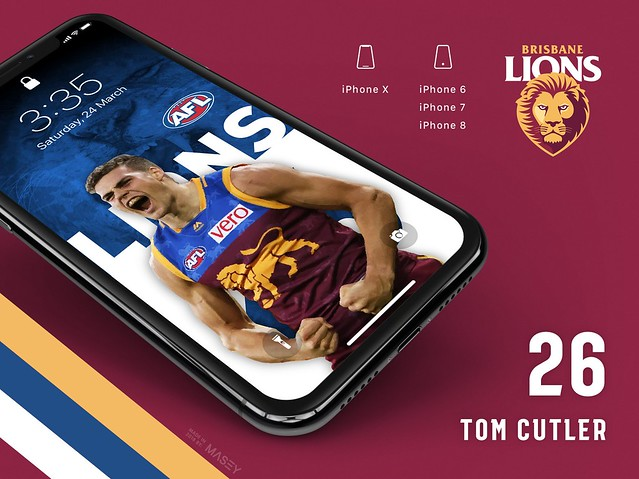 Tom Cutler (Brisbane Lions) iPhone Wallpaper