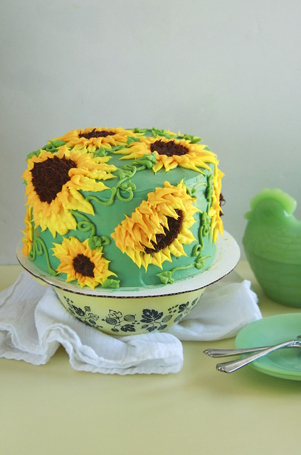 Sun Butter Sunflower Cake