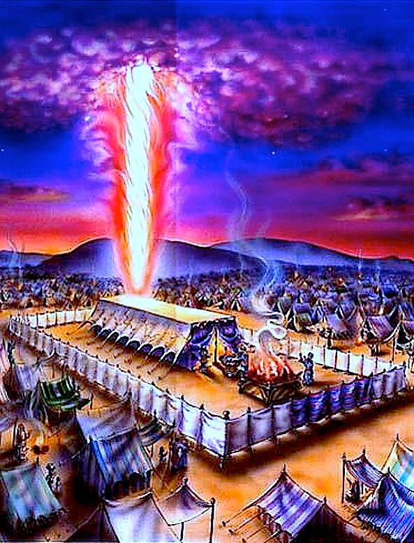 Скиния Завета в Синайской пустыне.