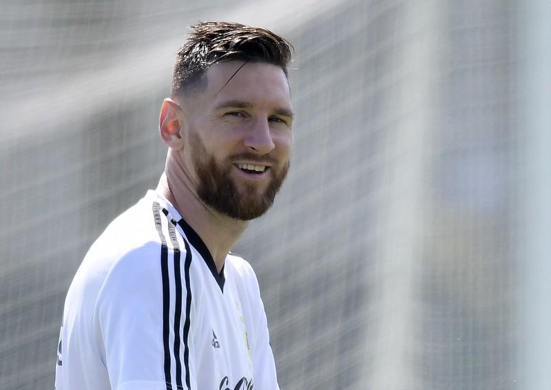 練球中的Lionel Messi。(AFP授權)