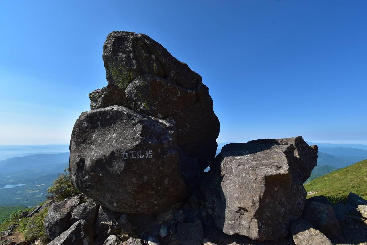 不忘山のカエル岩