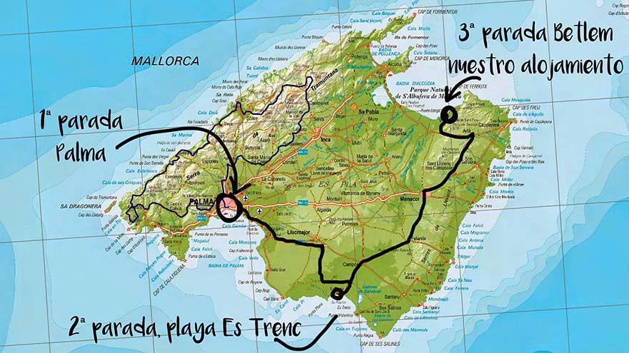 Mapa de Palma de Mallorca