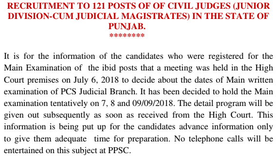 PPSC Civil Judge Admit Card 2018 - Download Here