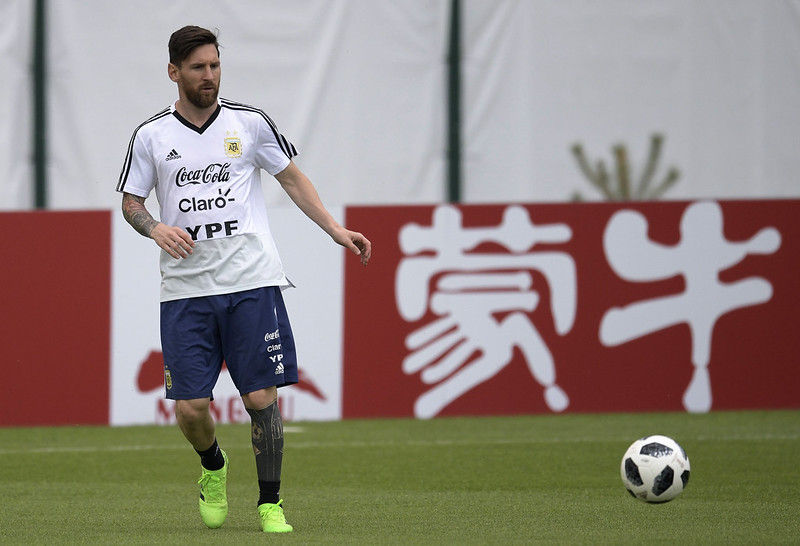 Lionel Messi本屆世界盃的光芒已被C羅所掩蓋。(AFP授權)