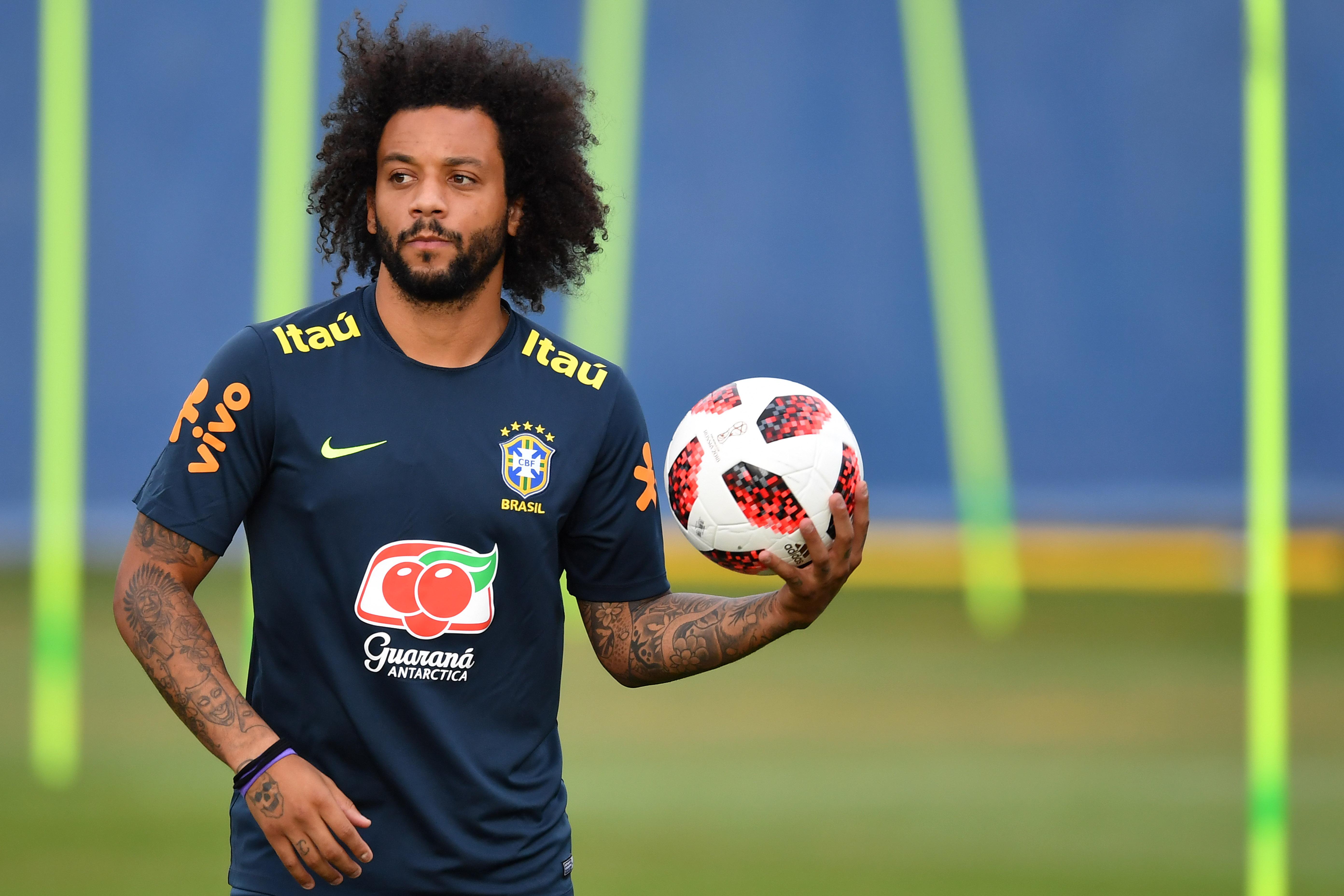 Marcelo歸隊進行訓練。(AFP授權)