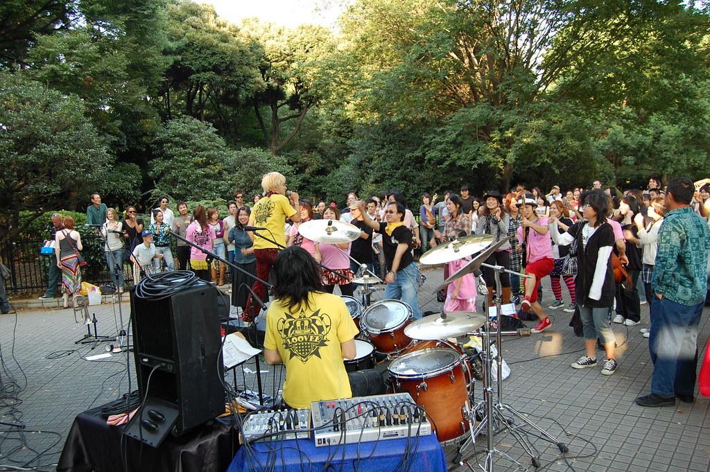Fiestón en el parque Yoyogi