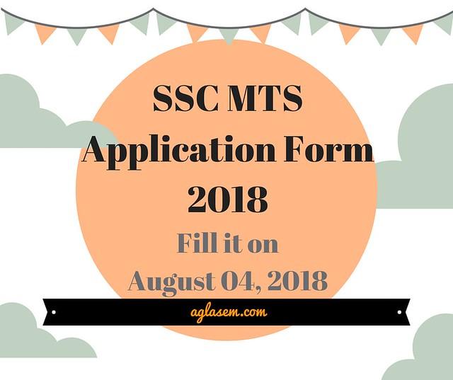 SSC MTS Application Form 2018