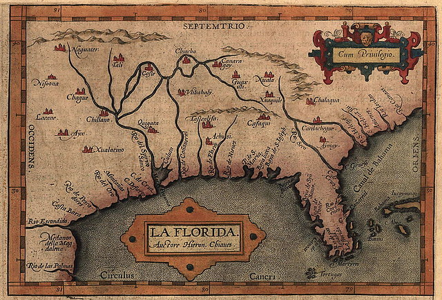 Mapa antiguo de Florida