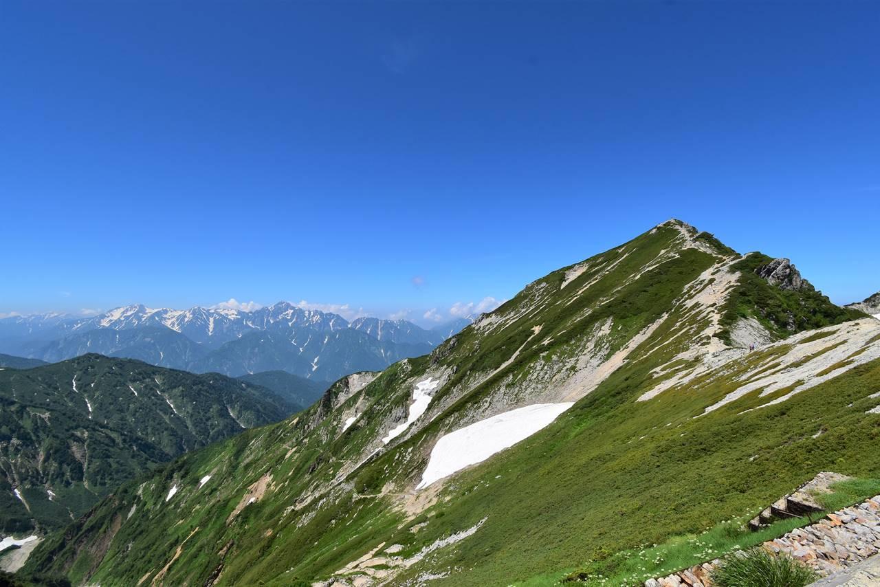 唐松岳頂上山荘から唐松岳の展望