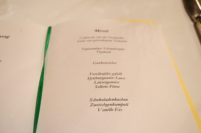German menu, Black Forest